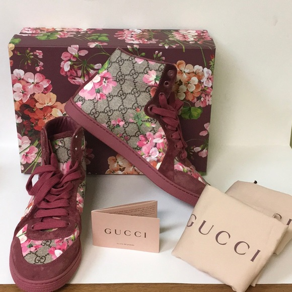 5443ccc0acd Gucci Shoes - Gucci Coda GG Blooms Printed High Top Sneakers